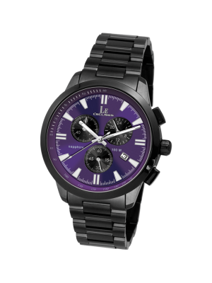 L'eclises | CHRONOGRAPH Gun & Purple 39mm (Gents)