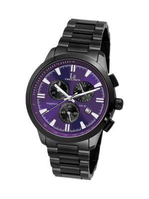 L'eclises | CHRONOGRAPH Gun & Purple 42mm (Gents)