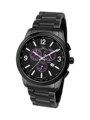 L'eclises | CHRONOGRAPH Gun B & Purple 42mm (Gents)