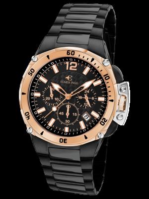 Elmer Ingo | Sporty Chronograph Black & Gold (Gents)