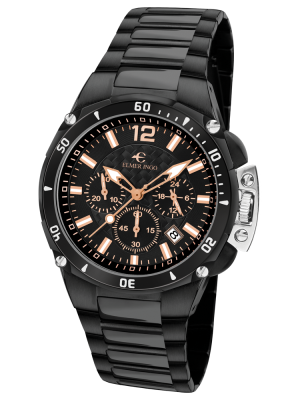 Elmer Ingo | Sporty Chronograph Black & Orange (Gents)