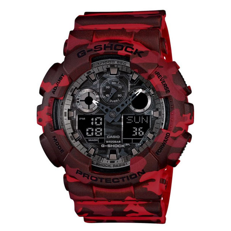 G-Shock | Camouflage Series GA-100CM Pointer dual display Digital Watch