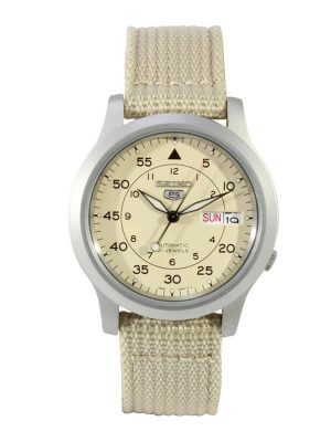 Seiko | Seiko 5 Beige Canvas (Gents)