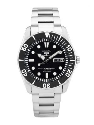 Seiko | Seiko 5 Sports Black & Silver Index (Gents)