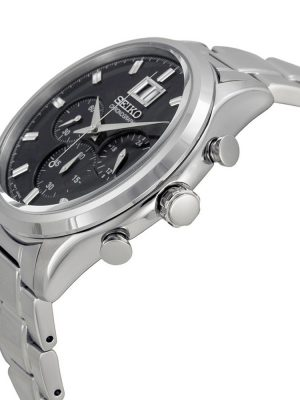 Seiko | Chronograph Black & Silver SS (Gents)