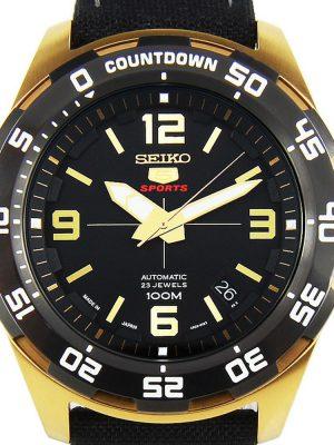 Seiko | Seiko 5 Sports Black & Gold NB (Gents)