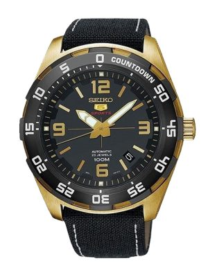 Seiko | Seiko 5 Sports Black & Gold NB (Gents)