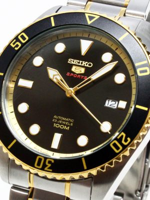 Seiko | Seiko 5 Sports Black & Gold TTB (Gents)