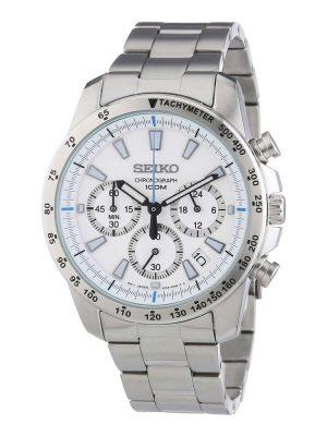Seiko | Chronograph White & Blue (Gents)