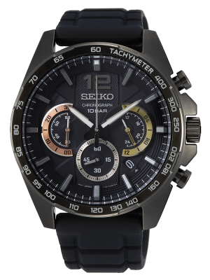 Seiko | Chronograph Black, Rose & Gold (Gents)