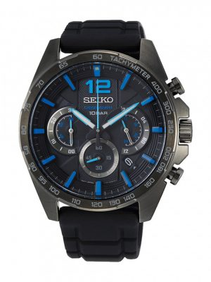 Seiko | Chronograph Black & Blue (Gents)