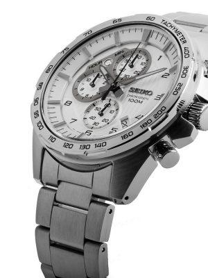 Seiko | Chronograph Silver w/ Tachymeter (Gents)