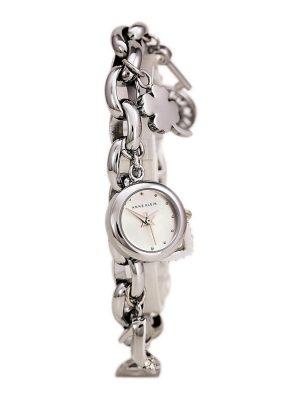 """ANNE KLEIN Silver Dial Silver Tone Charm Bracelet Ladies Watch (10/7605CHRM)"""