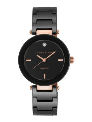 ANNE KLEIN Black Dial Ladies Watch (AK/1018RGBK)