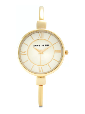 Anne Klein Classic 32mm Steel Bracelet & Case Quartz Ladies Watch (AK/1750CHGB)