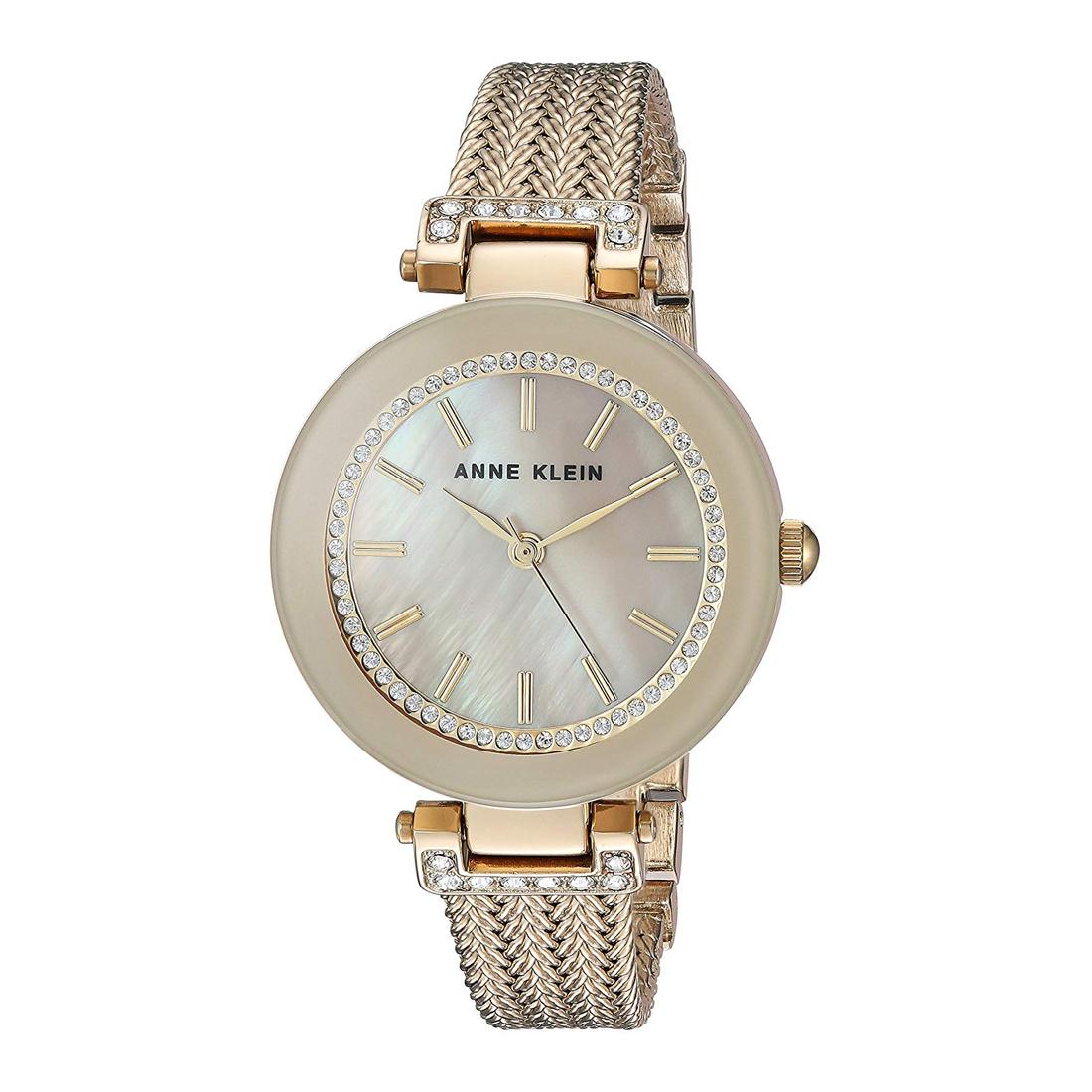 Swarovski Crystal Accented Mesh Bracelet Ladies Watch (AK/1906TMGB)
