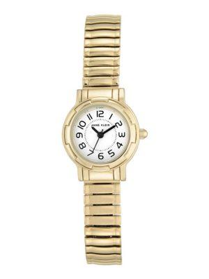 Anne Klein Gold-Tone Expansion Band Ladies Watch (AK/2340WTGB)