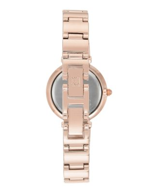 Anne Klein Diamond-Accented Bracelet Ladies Watch (AK/2434RGRG)