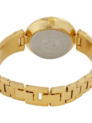 Anne Klein Diamond-Accented Dial Bangle Ladies Watch (AK/2512BYGB)