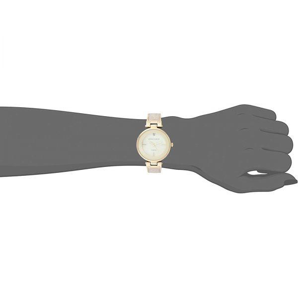 Anne Klein Diamond-Accented Dial Bangle Ladies Watch (AK/2512IVGB)