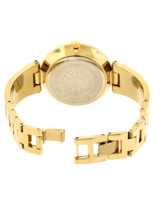 Anne Klein Diamond-Accented Dial Bangle Ladies Watch (AK/2512NVGB)