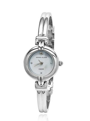 Anne Klein Bangle Stainless Steel MOP Ladies Watch (AK/2551MPSV)