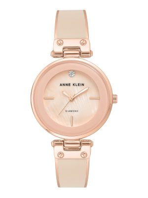 Anne Klein Classic Ladies Watch Quartz Mineral Crystal (AK/2898BHRG)