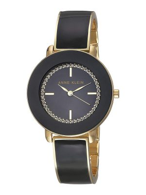 Anne Klein Classic 34mm Steel Bracelet & Case Quartz Ladies Watch (AK/2908BKGB)