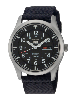 Seiko | Seiko 5 Sports Nylon Black 24 hour (Gents)