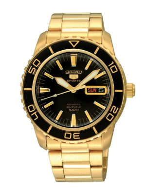 Seiko | Seiko 5 Sports Black & Gold BDGS (Gents)
