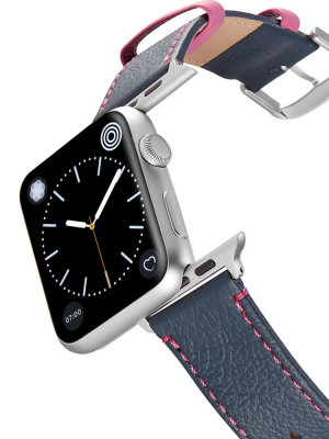 Happy Straps | Aquarium Collection Adria Pink - Apple Watch Leather Strap