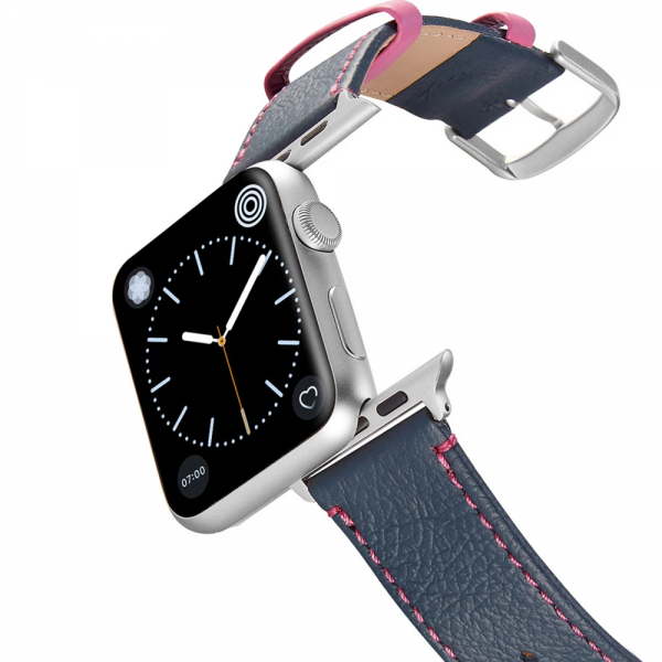 Happy Straps   Aquarium Collection Adria Pink - Apple Watch Leather Strap