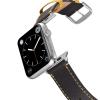 Happy Straps | Aquarium Collection Anthrazit Gelb - Apple Watch Leather Strap