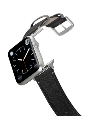 Happy Straps   Soil Collection BlackGray - Apple Watch Leather Strap